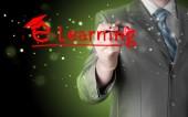Mężczyzna pisanie e learningu — Zdjęcie stockowe