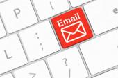 Keyboard with e-mail key — Stock Photo