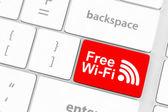 Free WI-FI button — Stock Photo