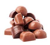 Ciemny cukierki czekoladowe — Zdjęcie stockowe