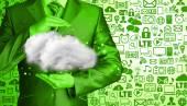Conceito de computação em nuvem — Fotografia Stock