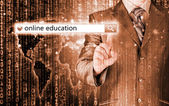 Online education in search bar — Stock Photo