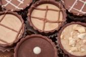 Dark chocolate on wooden background — ストック写真
