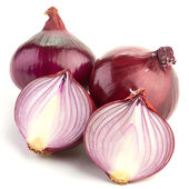 Red sliced onion — Stock Photo