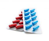 Pills in blister pack closeup — Stock Photo