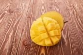 Mango fruit on wood — Stock Photo