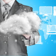 Cloud computing, technology connectivity concept — Stock Photo #63353461
