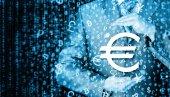 Businessman protecting euro symbol — Stock Photo