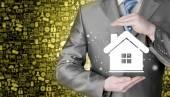 Home versicherung-konzept — Stockfoto