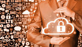 Protecting cloud information — Stock Photo