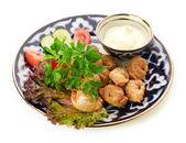 Fried russian dumplings — Stock Photo