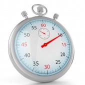 Gray stopwatch 3d — Stock Photo