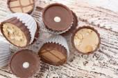 Dark chocolate candies — Stock Photo
