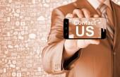 Business man mano che tiene smartphone — Foto Stock