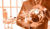 Biznesmen i internet koncepcja — Zdjęcie stockowe