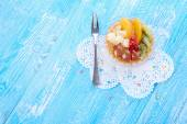 Sweet cake with fruits — Stock Photo