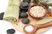 Spa composition with stones — Stock Photo