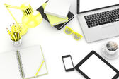 Laptop and office stuff — Stock Photo