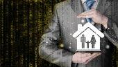 Zakenman familie bescherming — Stockfoto