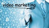 Man writing Video Marketing — Stock Photo