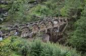 Bahçede köprüpuente en el jardín — Foto de Stock