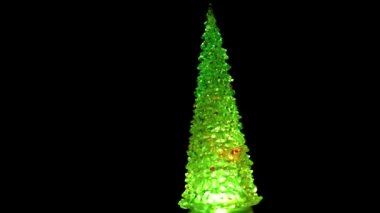 Glass Christmas tree — Stock Video