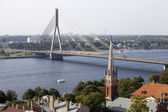 Aerial view of Riga old town — Stock Photo