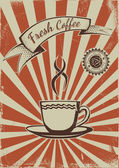 Vintage coffee poster template — Stockvektor
