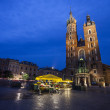 Church of St. Mary in Krakow Main Market Square  — Stock fotografie #70816853