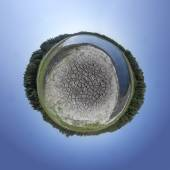 Dried Out Lake Tiny Planet — Stock Photo