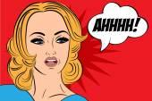 Pop-artu smutne kobiety retro w stylu komiksów wiadomości — Wektor stockowy