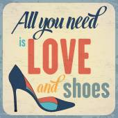 Quote Typographic Background about shoes — 图库矢量图片