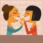 Gossiping Women — Stock Vector #68303327
