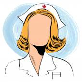 Beautiful friendly and confident nurse  — Stockvektor