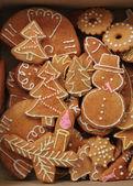Kerstmis zelfgemaakte-peperkoek — Stockfoto