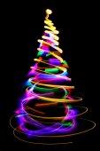 Christmas lights as xmas tree — Stock Photo