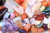Color mineral (gems) as nice texture — Stock Photo