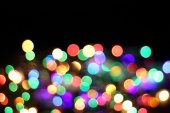 Abstract color christmas light background — Stock Photo