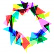 Texture from color plastic triangles  — Stock Photo #59572787