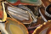 Agate collection — Stock Photo