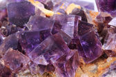 Violet fluorite cubes — Stock Photo