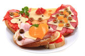 Open sandwiches — Stock Photo