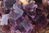 Фиолетовый флюорит кубов — Стоковое фото