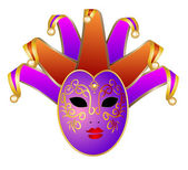 Venice mask — Stock Vector