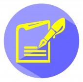Блокнот с ручкой — Cтоковый вектор