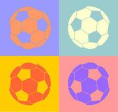 Balón de fútbol — Vector de stock
