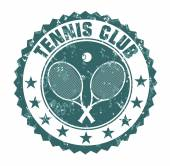 Tennis club stamp — Stock Vector