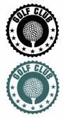 Golf club stempel — Stockvector