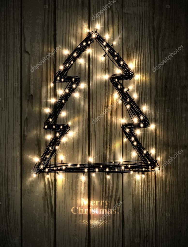 Rbol de navidad hecho de luces led archivo im genes - Arbol de navidad hecho de luces ...
