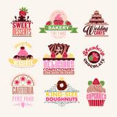 Set of Bakery Tags — Stock Vector